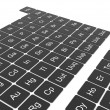 Foto Stock: Periodic table of elements