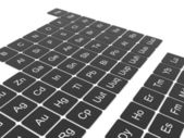 Periodic table of the elements — Stockfoto