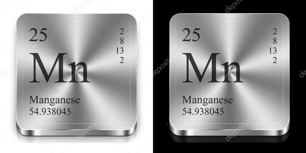 Manganese, two metal web buttons  Stock Photo #9623730
