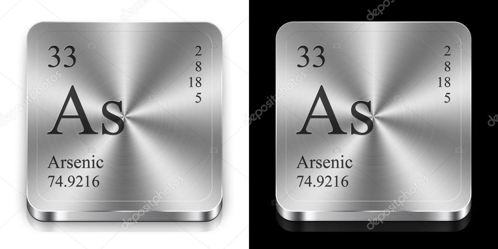 Arsenic, two metal web buttons — Stock Photo #9623751