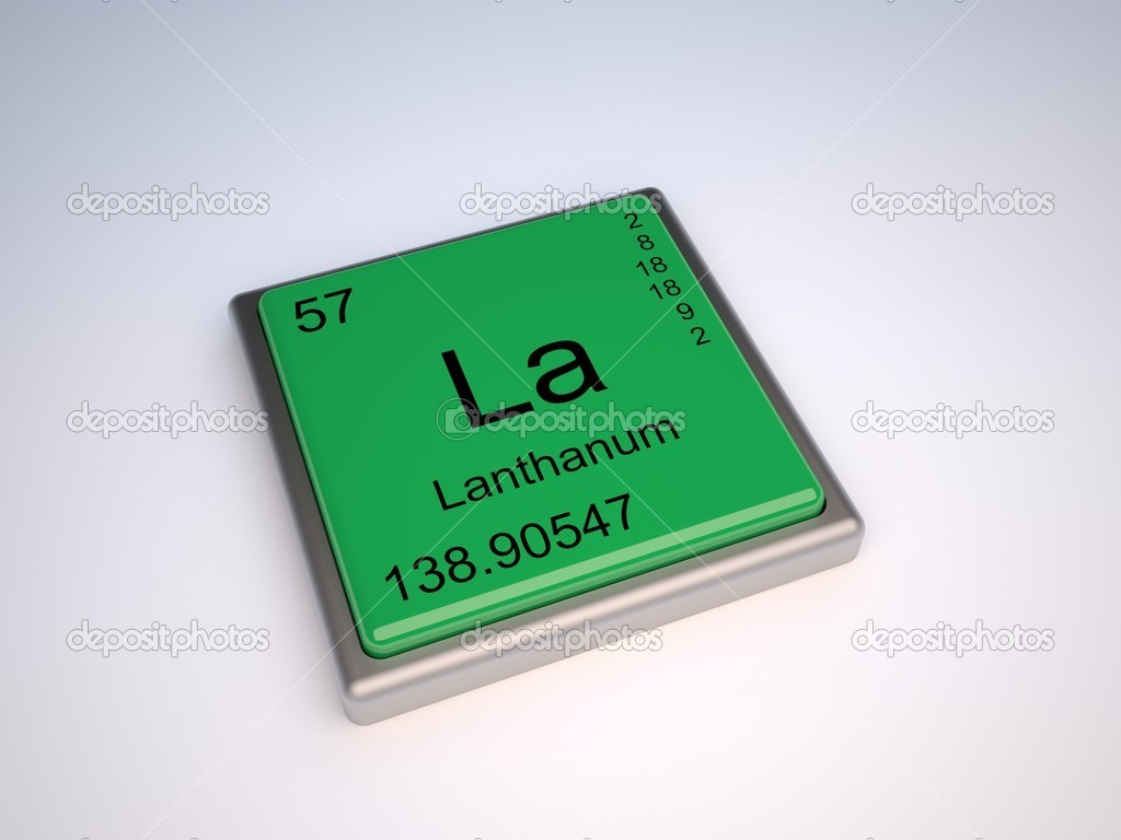 Lanthanum chemical element of the periodic table with symbol La — Stock Photo #9624194