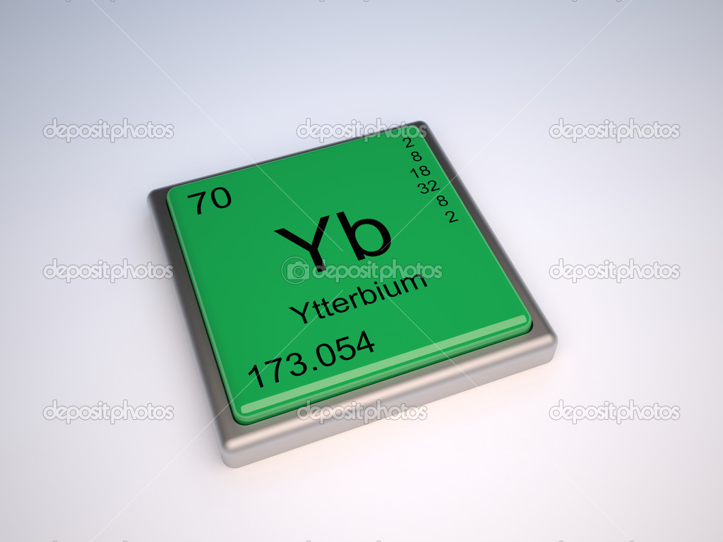 Ytterbium chemical element of the periodic table with symbol Yb — Stock Photo #9624250