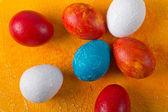 Really painted Easter eggs — Stock Photo