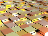Abstract background - gold, yellow and orange shiny different cubes — Stock Photo
