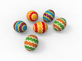 Easter eggs, color pack collection — Stock Photo