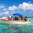 Stock Photo: Blue lagoon and Poti Mararboat