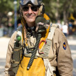 Stock Photo: Americmilitary pilot