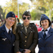 Stock Photo: Soldier girls