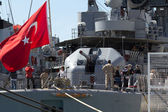 Turkish warship — Stock Photo