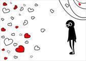 The postcard on Valentine's Day — Stockvector