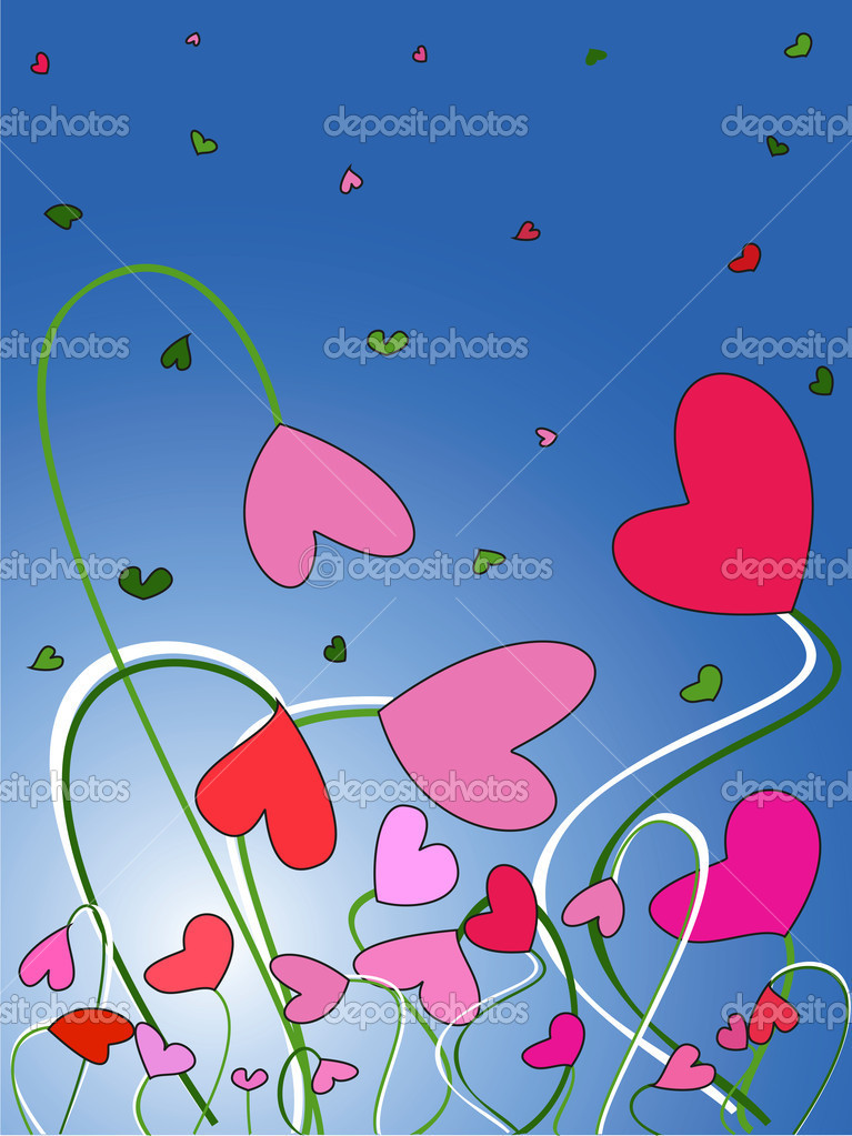Valentine's Day. postcard  Stock Vector #8878469