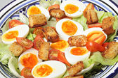 Egg and tomato salad — Stock Photo