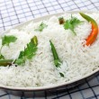 Basmati rice with cilantro and chillis - Stock Photo
