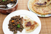 Keema curry with paratha — Stock Photo
