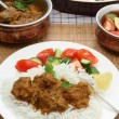 Stock Photo: Madras butter beef meal vertical