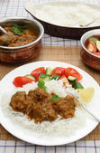 Madras butter beef meal vertical — Stock Photo