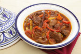 Moroccan beef tagine — Stock Photo