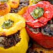 Stuffed peppers from oven — Stock Photo #10588030