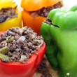 Stuffed peppers oven ready — Stock Photo