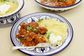 Chicken tagine meal horizontal — Stock Photo
