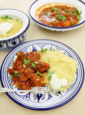 Chicken tagine meal vertical — Stock Photo