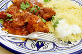 Chicken tagine meal closeup — Stock Photo