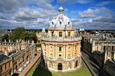 Oxford library and spires — Stock Photo
