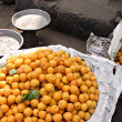 Apricots on a Cairo street - Stock Photo