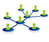 Networking illustration — Stock Vector