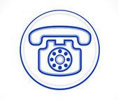 Blue telephone icon — Stock Vector