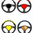 Car steering wheels set — Stock Vector