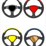 conjunto de volantes de carro — Vetorial Stock