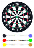 Dart board — Stock Vector