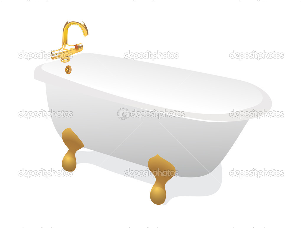 Retro bathtub — Stock Vector #10139004