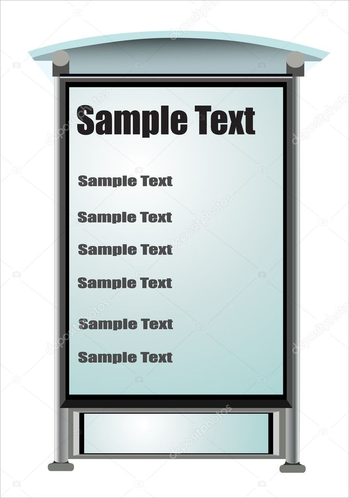Bus Stop ad Vector at Bus Stop Vector by