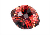 Precious red diamond isolated on white — Stock Vector
