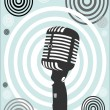 Retro Microphone. Vector — Stock Vector