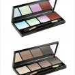 Vector de stock : Professional cosmetics. Eye-shadow,rouge,powder.