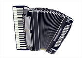 Image of accordion under the white background — Stock Vector