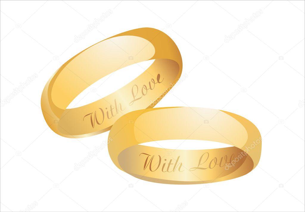 bagues de mariage or — Vecteur de mitay20