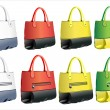 Royalty-Free Stock Векторное изображение: Designer female bags.