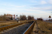The railway a crossroads — Stock Photo