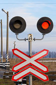 Railway semaphore — Stock Photo