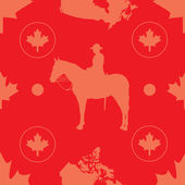 Canada Seamless — Stock Vector