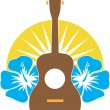 Royalty-Free Stock Vectorafbeeldingen: Ukulele Hibiscus