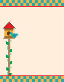 Bird House — Stock Vector