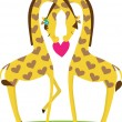 Giraffe Love - Stock Vector