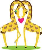 Giraffe Love — Stock Vector