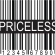 Upc Code Priceless — Stock Vector