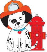 Dalmation Fire Dog — Stock Vector